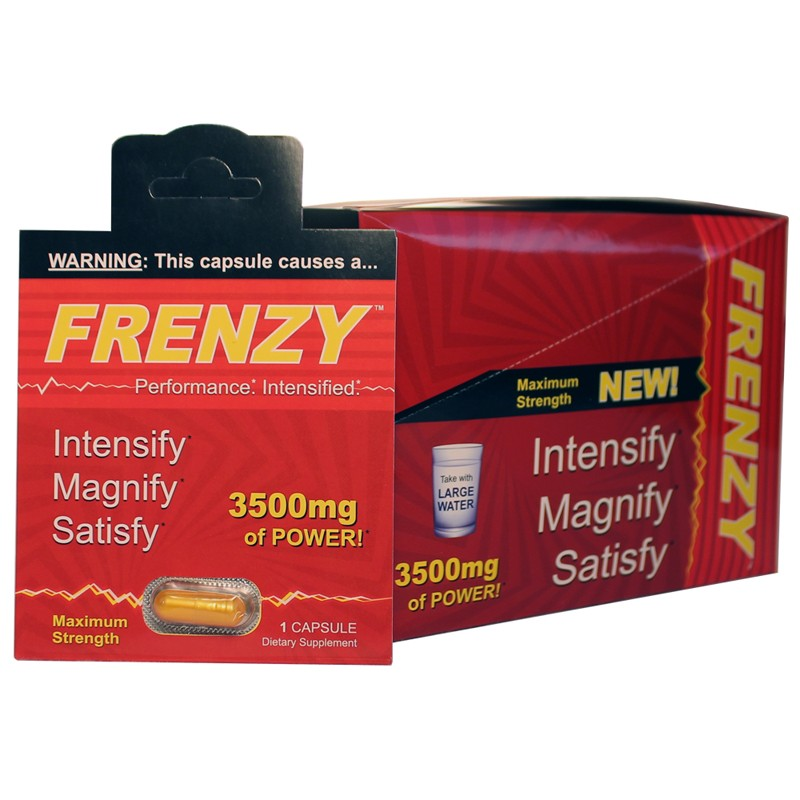 Frenzy 1pk Male Performance Pill (DP/24)