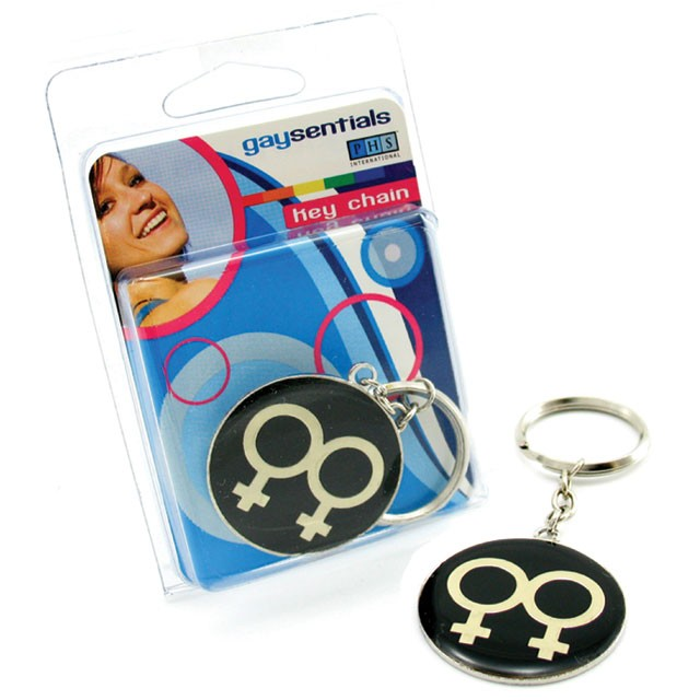 Gaysentials Metal Double Female Key Chain