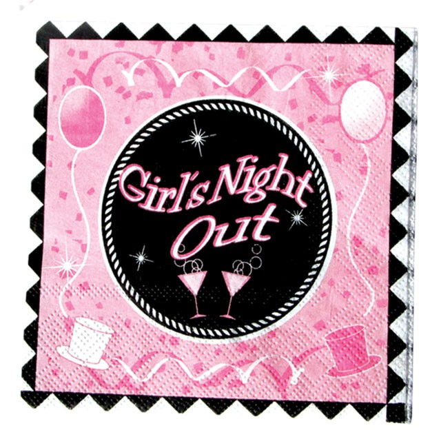 Girls Night Out Party Napkins (10 inch, 10 pack)