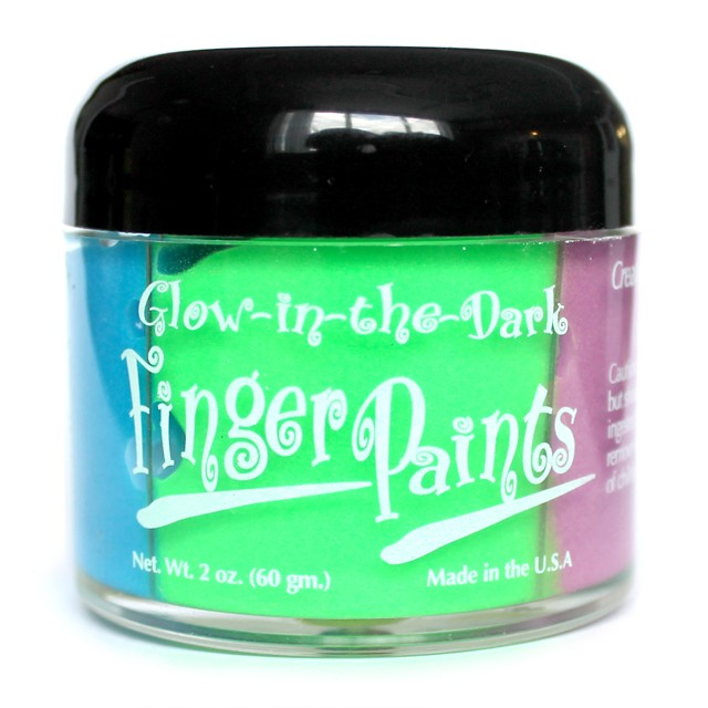 Glow in the Dark Finger Paints 2oz