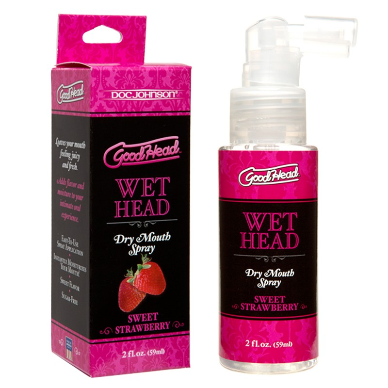 GoodHead - Wet Head - Dry Mouth Spray - Sweet Strawberry 2 fl oz