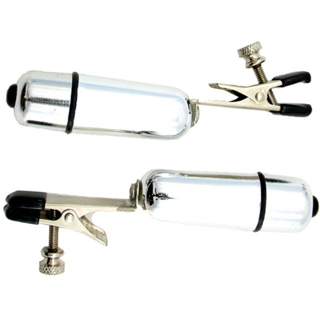 H2H Nipple Clamps Alligator with Bullet(Chrome)