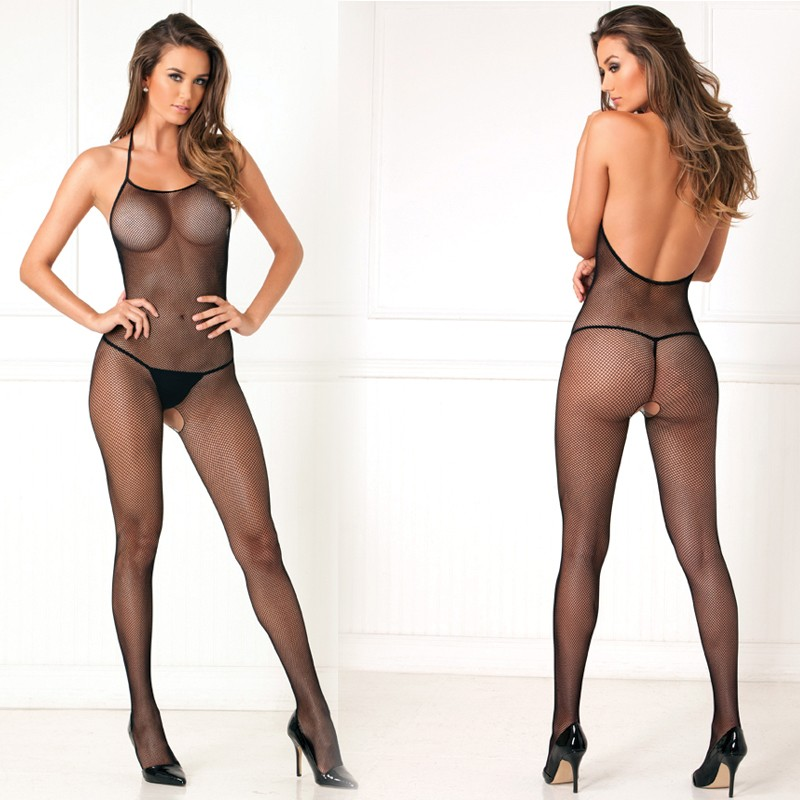 Halter Fishnet Bodystocking