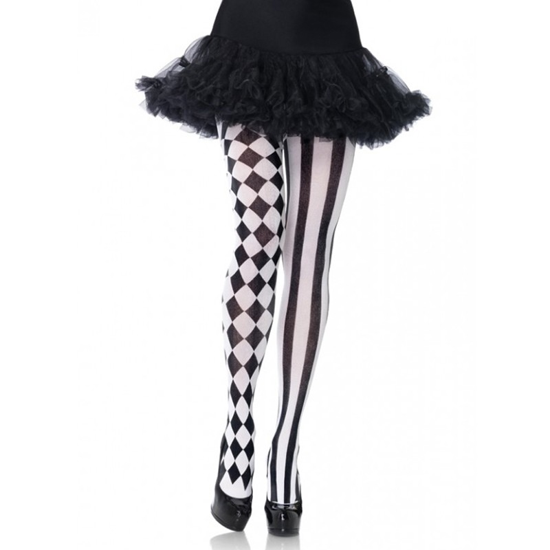 Harlequin Pantyhose O/S Black/White
