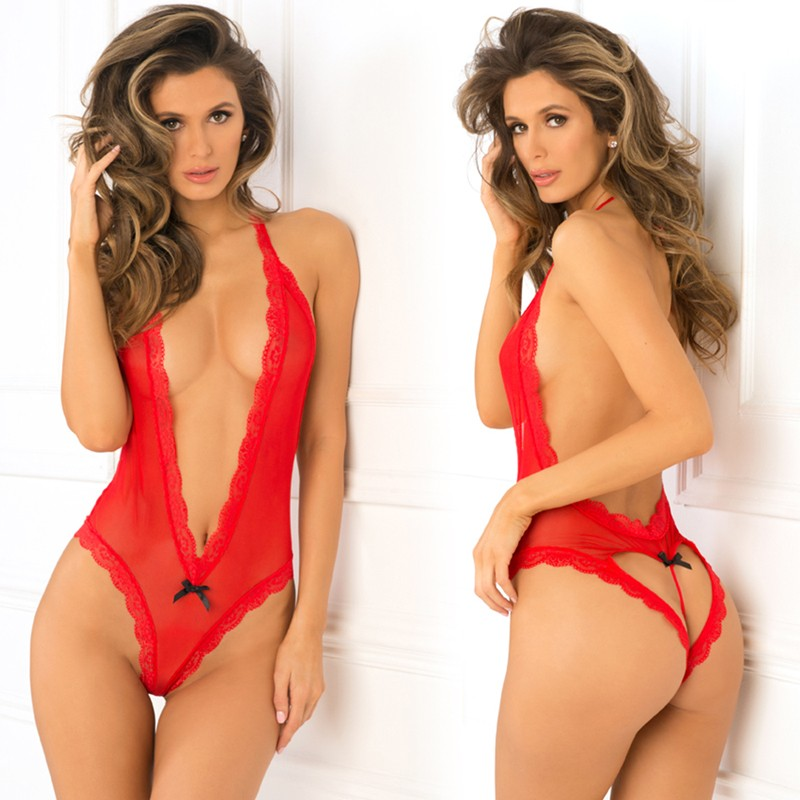 Heart Back Teddy Red S/M
