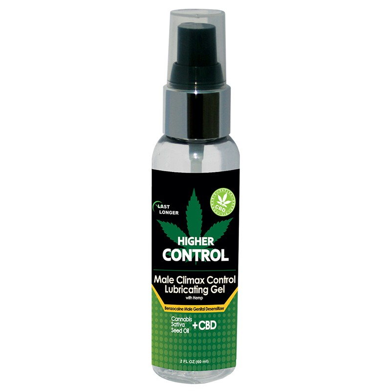 Higher Control Climax Control Gel with Hemp Seed Oil 2 oz bottle