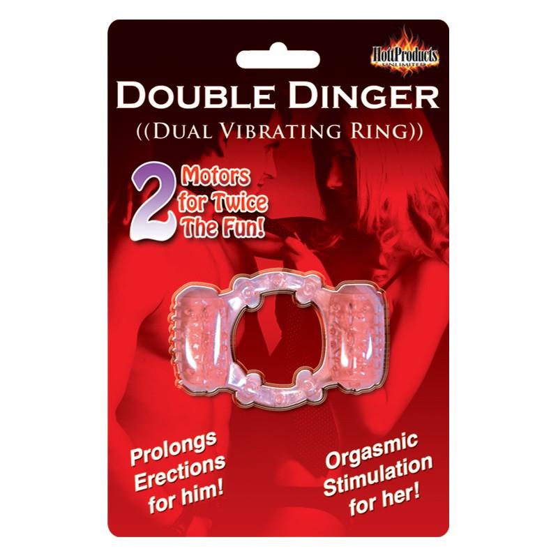 Humm Dinger Double Dinger Cockring (Magenta)