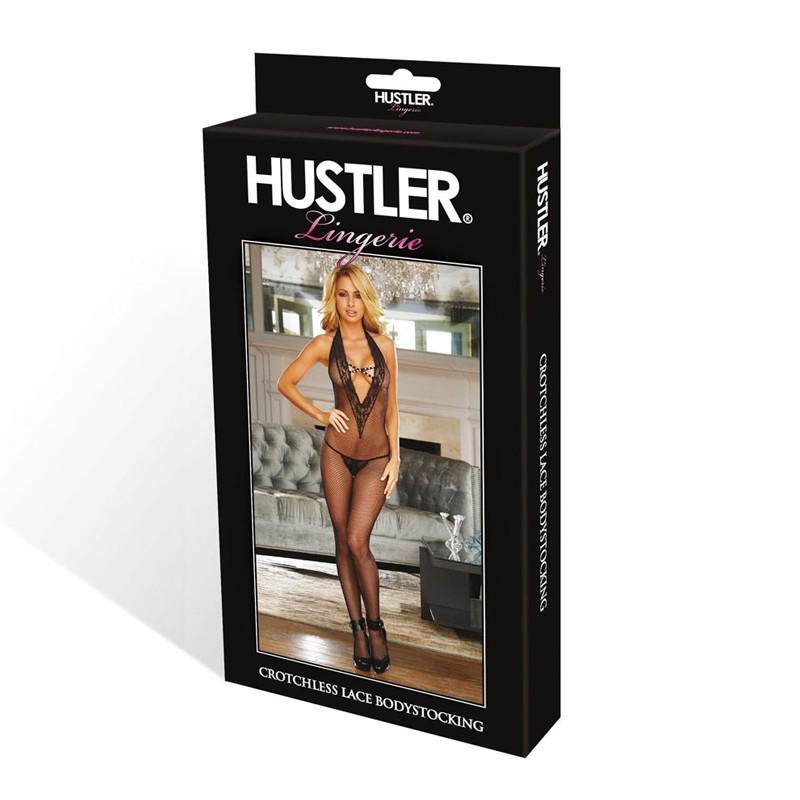 Hustler Criss Cross Fishnet Bodystocking