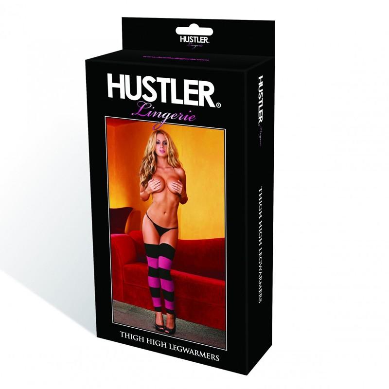 Hustler Leg Warmer Pink/Black Thigh High