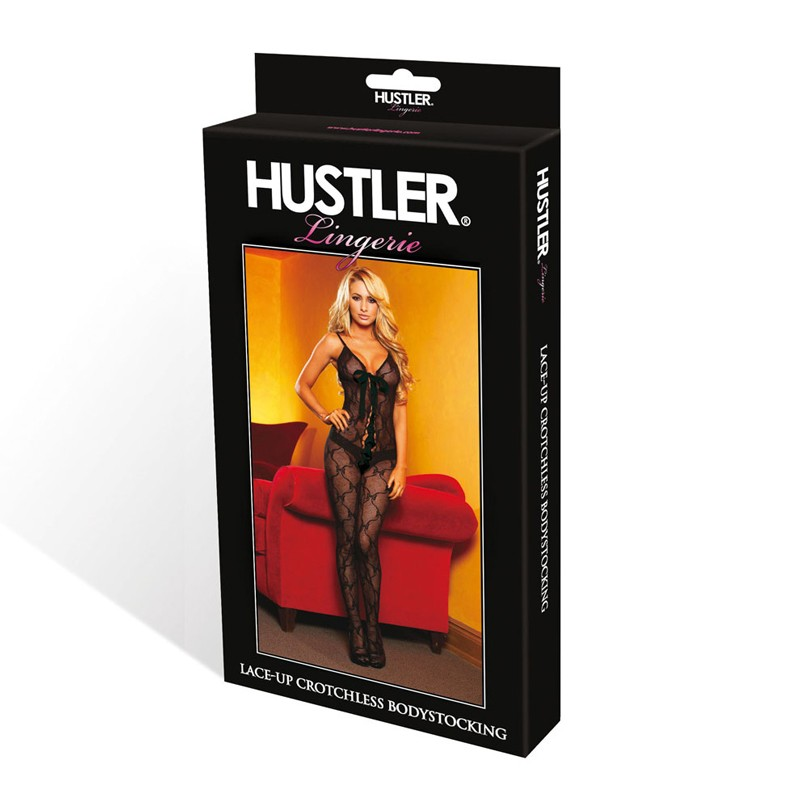 Hustler Little Bow Peep Lace-up Crotchless Bodystocking