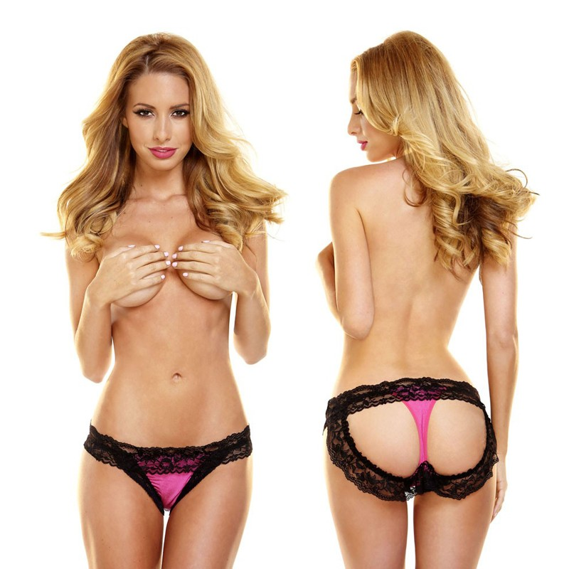 Hustler Rear View Lace Thong M/L