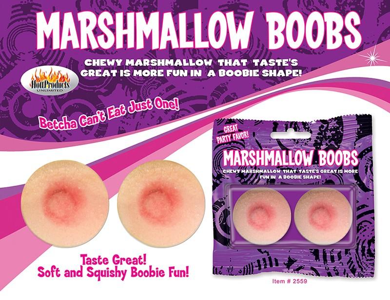 Jumbo Marshmallow Boobies 2pk