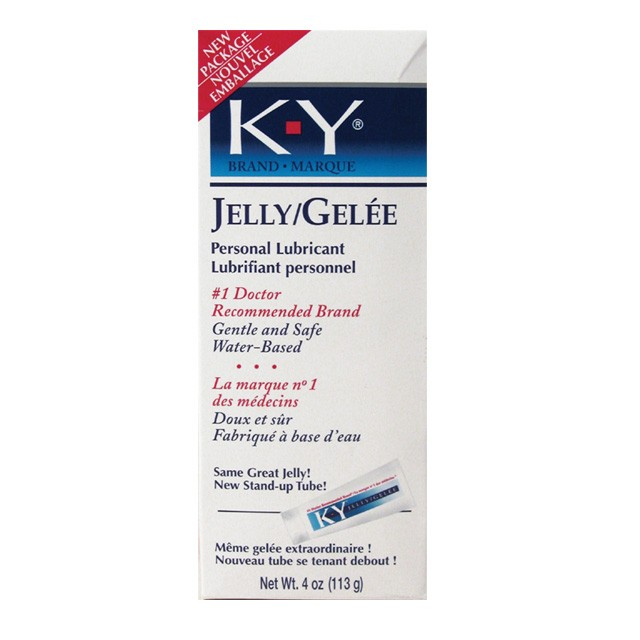 K-Y Jelly 4oz Tube Personal Water Based Lubricant