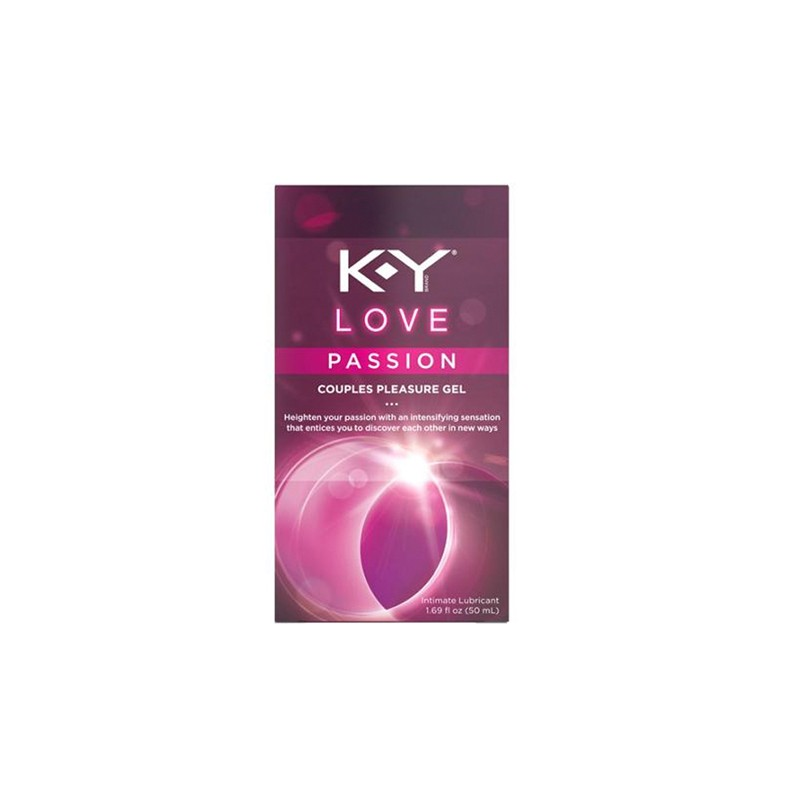 K-Y Love Passion Couples Pleasure Gel Waterbased Lubricant 50ml. (Cooling)