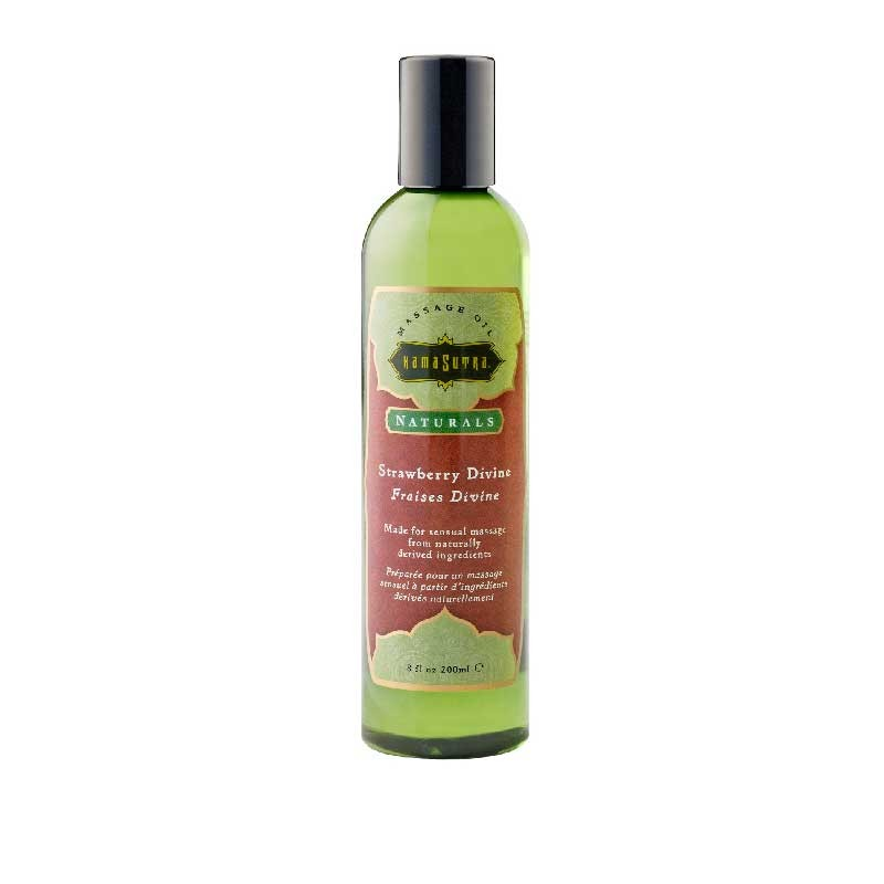 Kama Sutra Massage Oil Naturals Strawberry Divine 8 fl oz