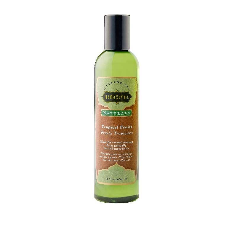 Kama Sutra Massage Oil Naturals Tropical Fruits 8 fl oz