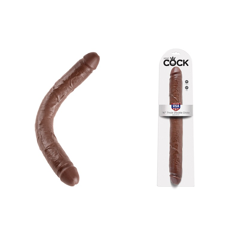 King Cock - 16in Thick Double Brown