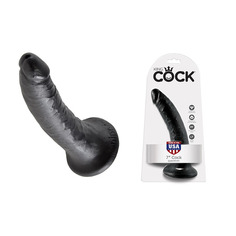 King Cock - 7in Cock Black