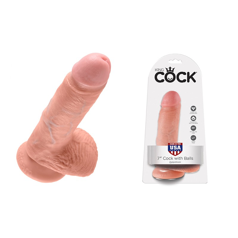King Cock - 7in Cock W/ Balls Flesh