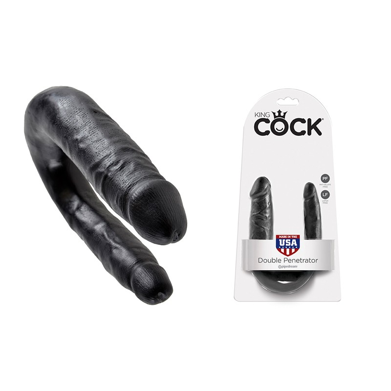 King Cock - Double Trouble Black Small