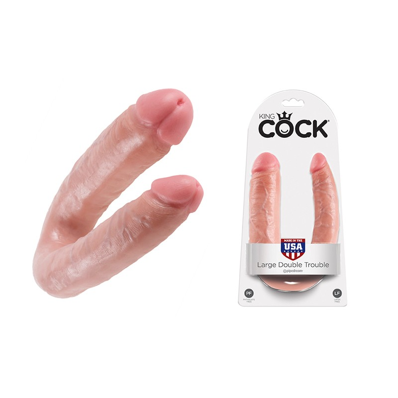 King Cock - Double Trouble Flesh Large