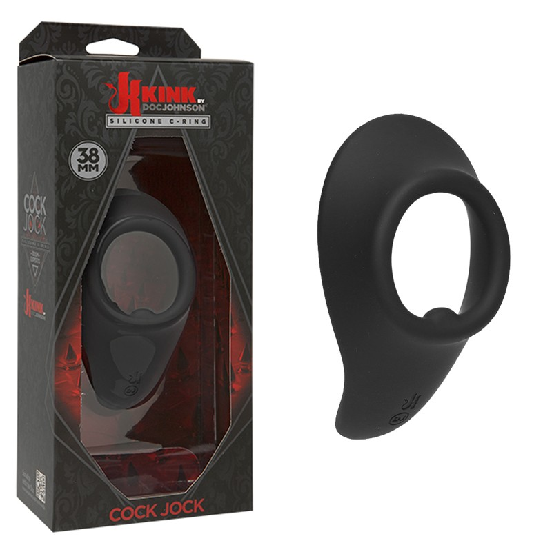 Kink Cock Jock Silicone C-Ring 45 mm Black