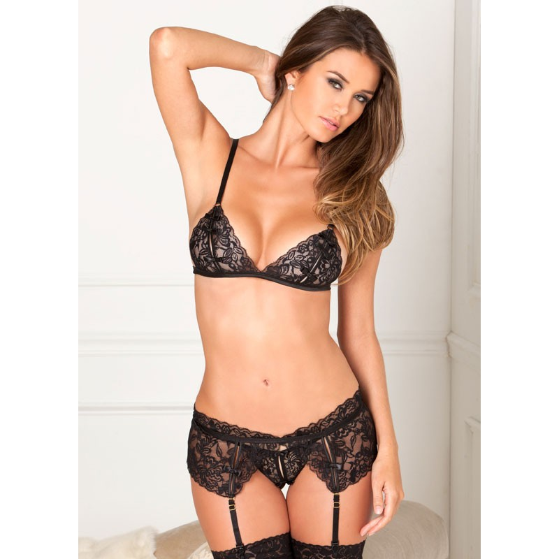 Lace Garter 3pc Set M/L