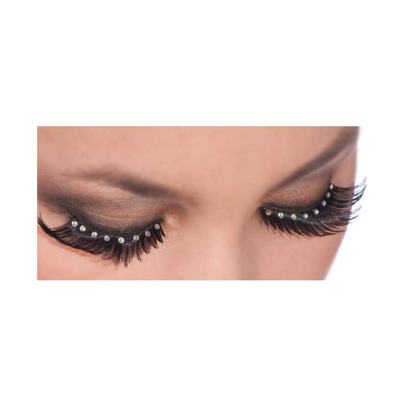 Lashes-Crystal Gems W/Black