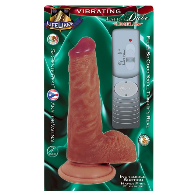Lifelikes Latin Duke Dong 7in. Vibrating