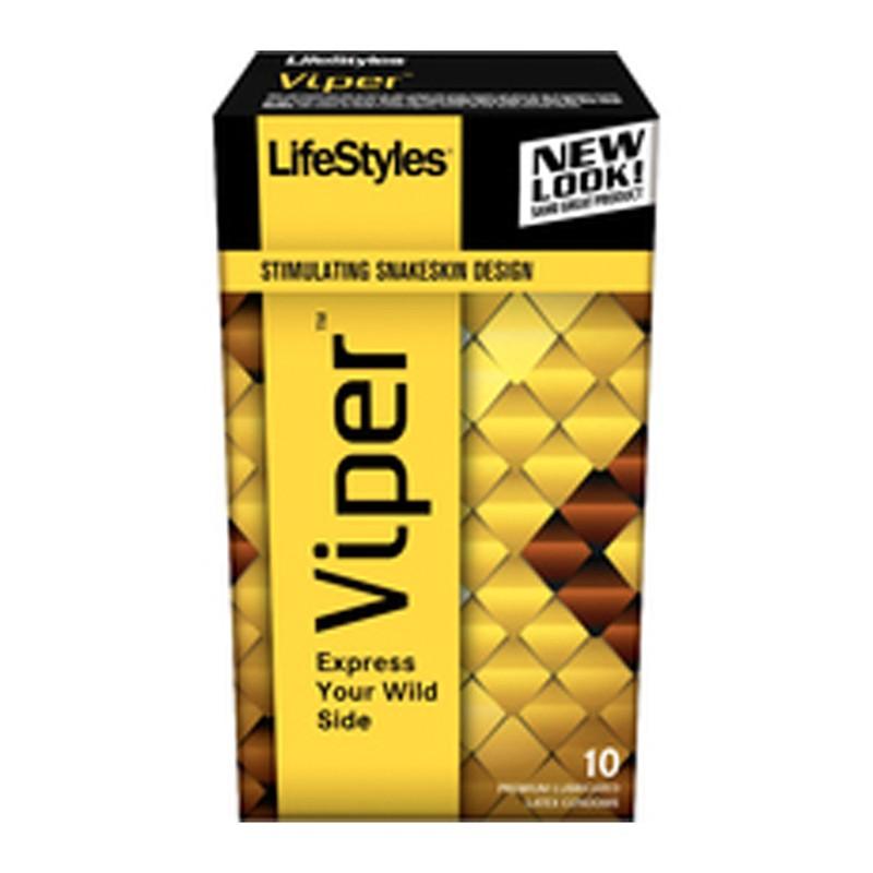 Lifestyles Viper Snakeskin Design Condoms (10)