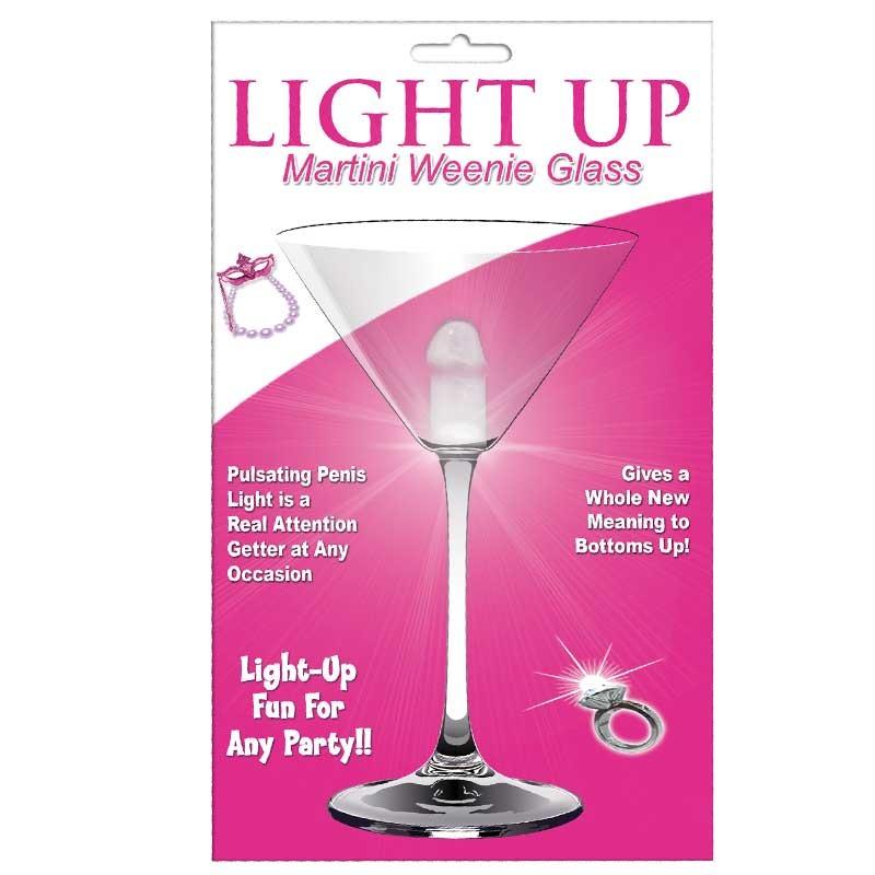 Light Up Martini Weenie Glass