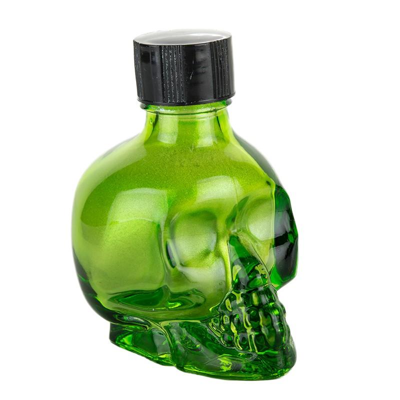 Liquid Latex Sparkle Green 1oz Skull Bottle