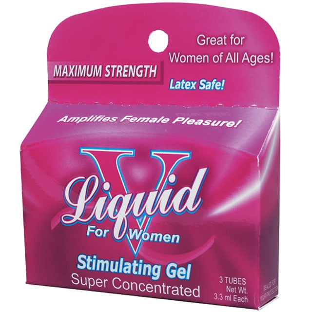 Liquid V  Stimulating Gel for Women (3 Tubes/3.3ml Each)