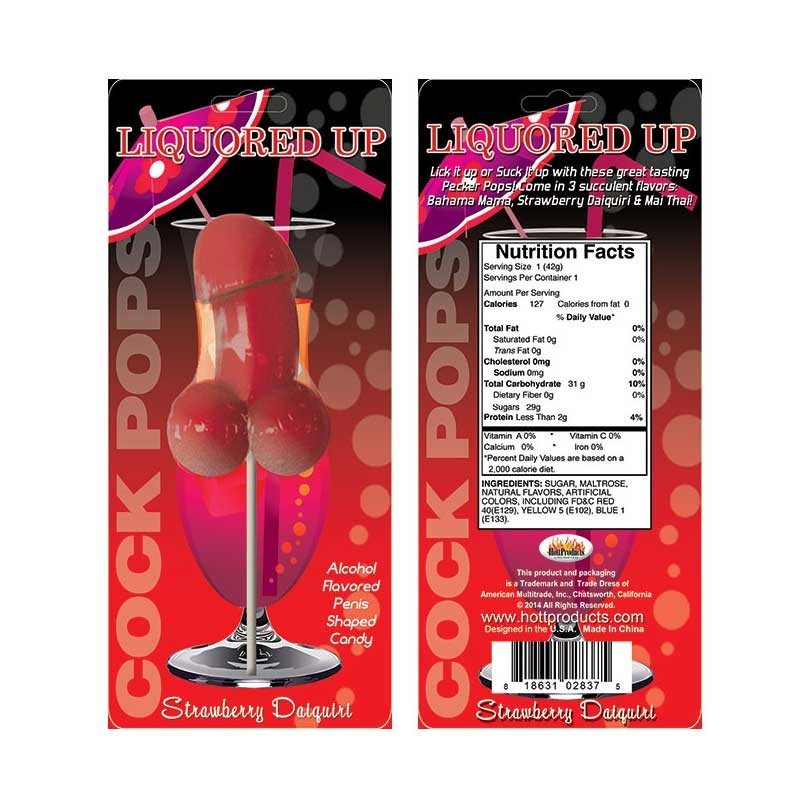 Liquored Up Cock Pop-Strawberry Daiquiri