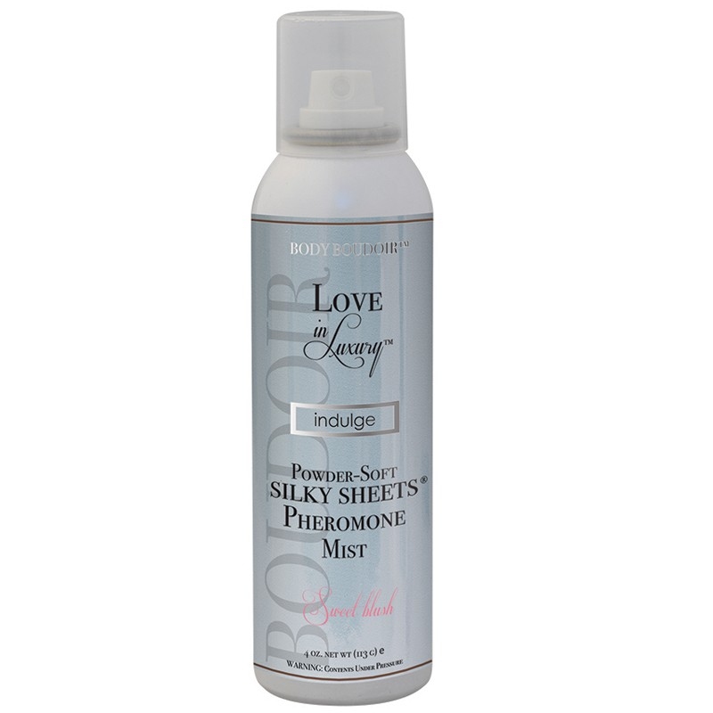 Love In Luxury, Pheromone Silky Sheets Mist, Sweet Blush, 4 Oz Net Wt., Aerosol Can