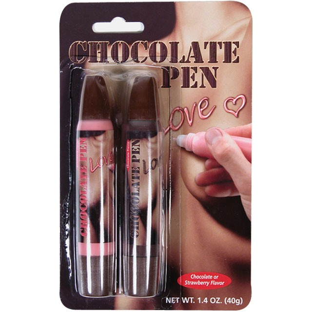 Lovers Body Pen Set Chocolate & Strawberry
