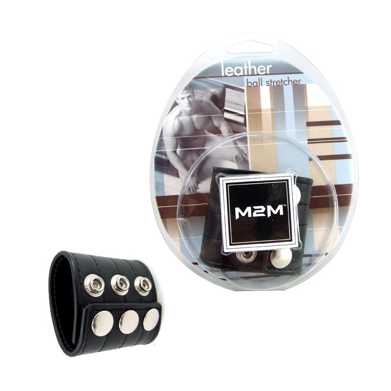 M2M Ball Stretcher Leather 2in. Black