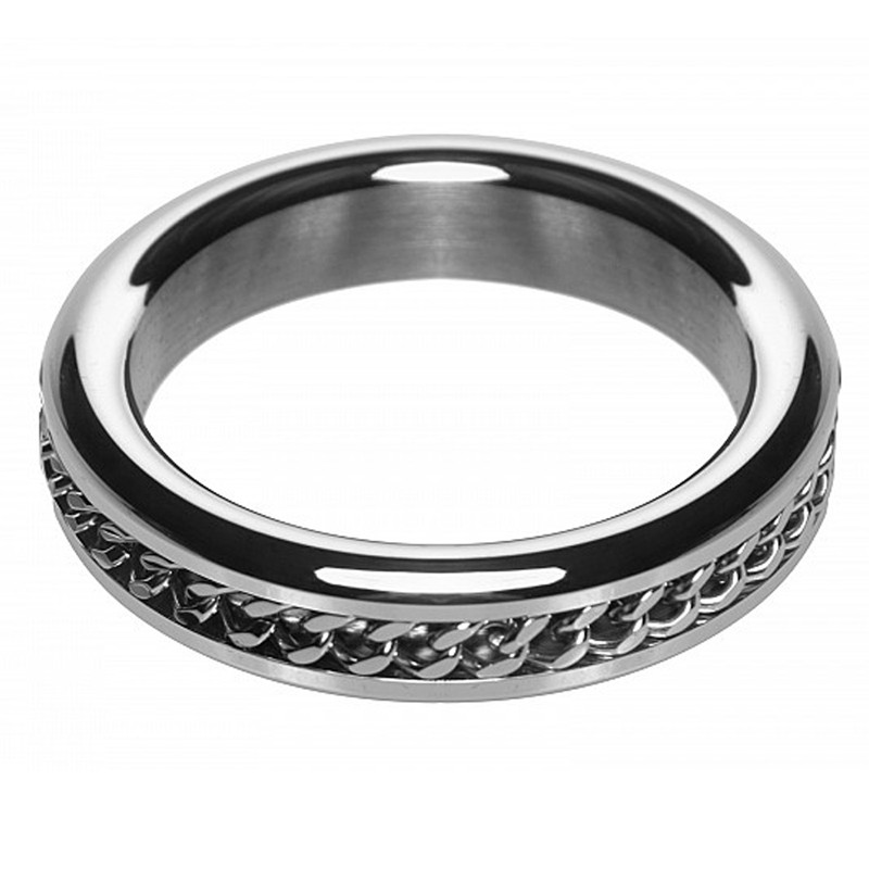 M2M Chrome C-Ring w/Chain Design 1.875in