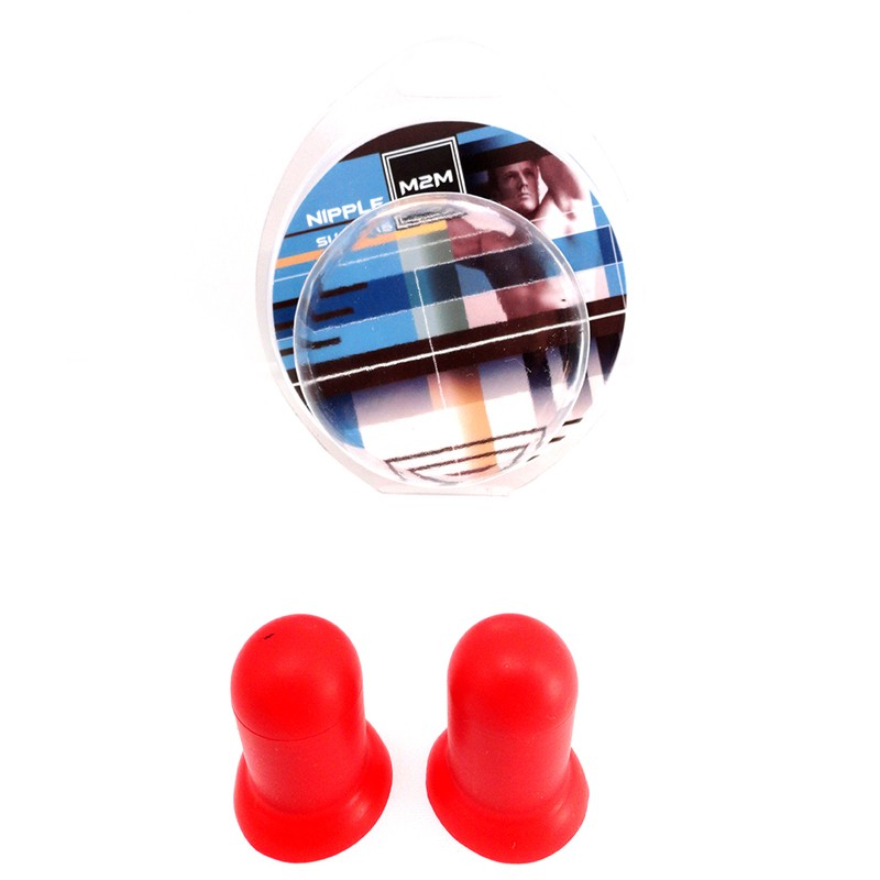 M2M Nipple Suckers Silicone Red Medium