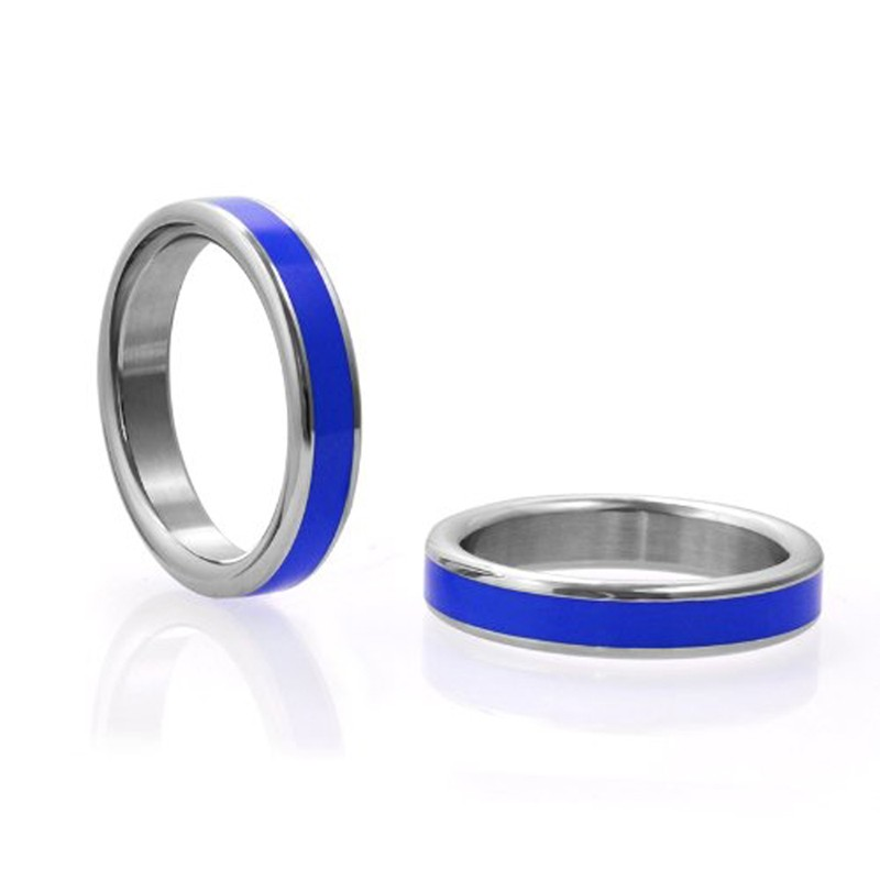 M2M Stainless C-Ring w/Blue Band & Bag 1.75in