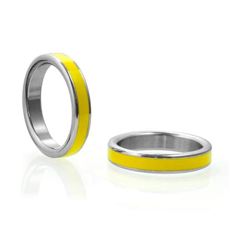 M2M Stainless C-Ring w/Yellow Band & Bag 1.75in