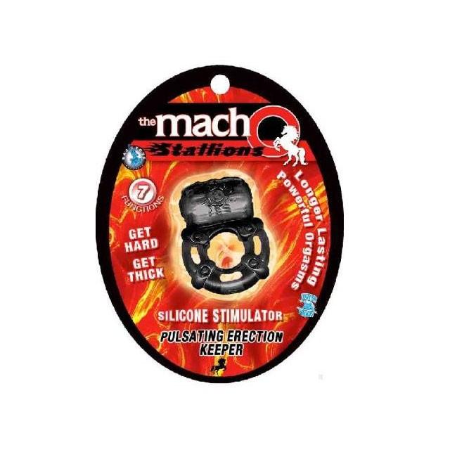 Macho Pulsating Erection Keeper (Black)