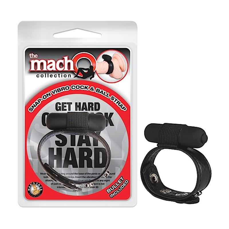 Macho Snap-On Vibro Cock & Ball Strap