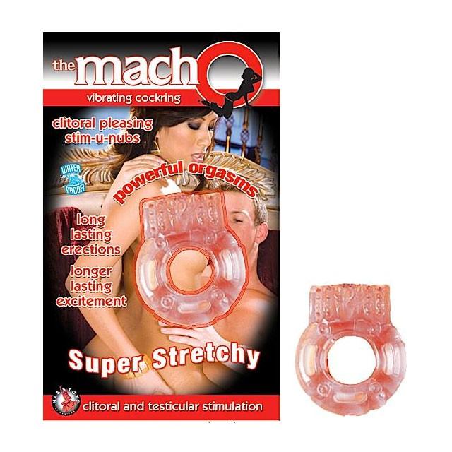 Macho Vibrating Cockring (Peach)