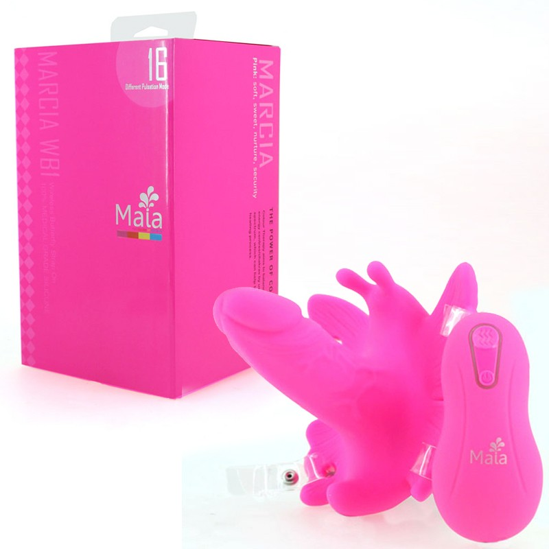 Maia Toys Wicked Butterfly Wireless Strap On - WB1 Neon Pink