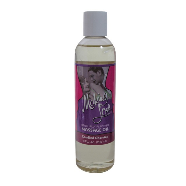 Making Love Flavored Massage Oil Peaches & Cream 8 fl oz