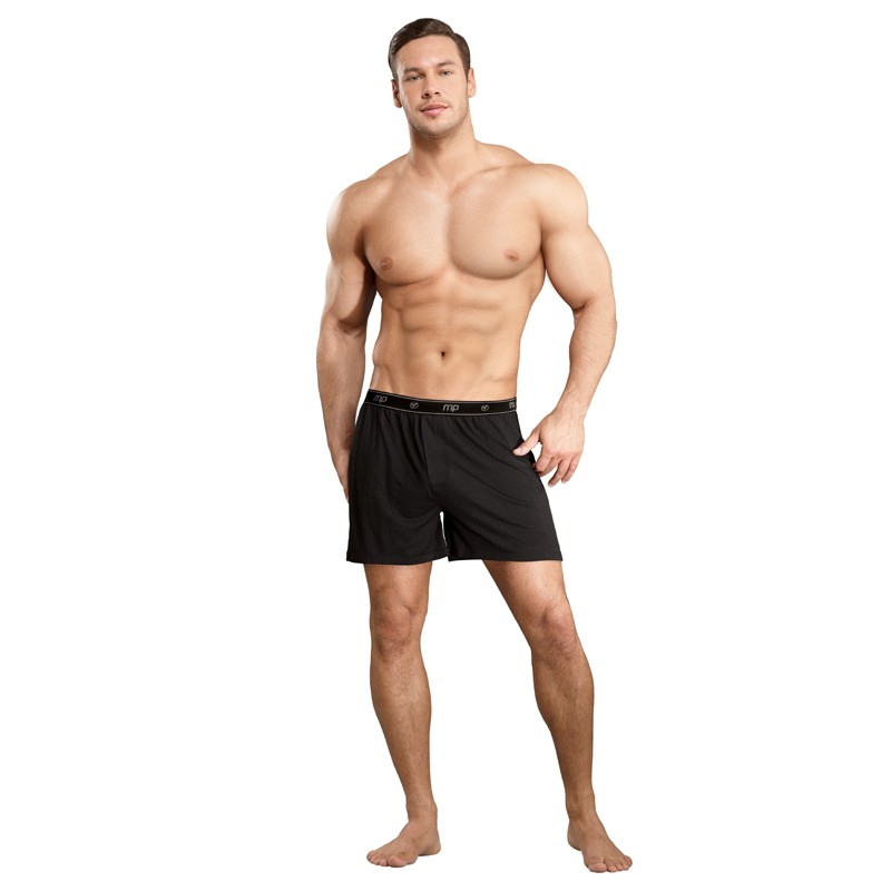 Male Power Bamboo Boxer Black LG