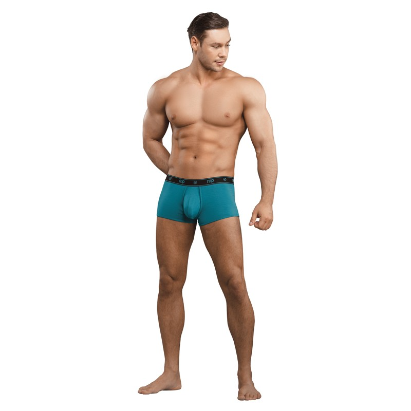 Male Power Bamboo Enhancer Mini Short Teal Large