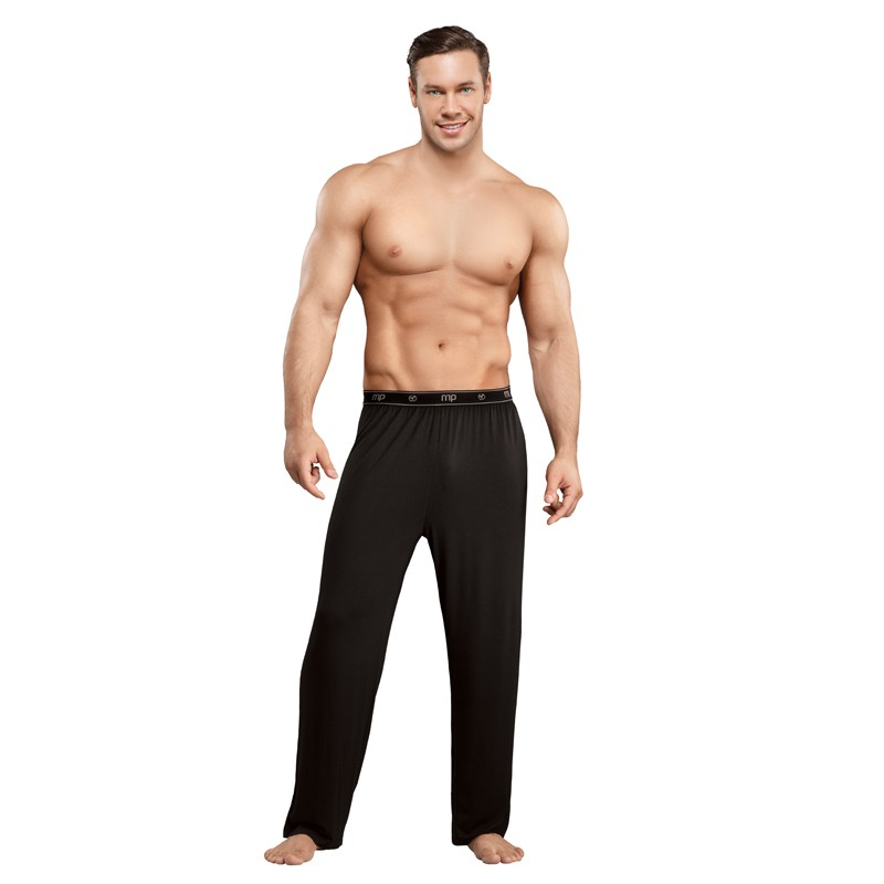 Male Power Bamboo Lounge Pant Black Large