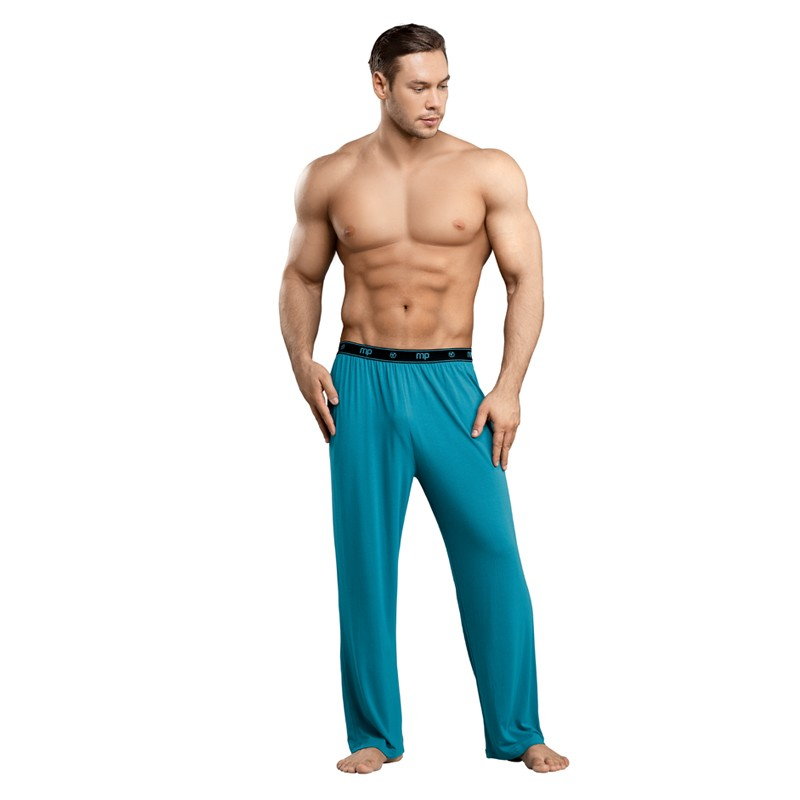Male Power Bamboo Lounge Pant Teal Med